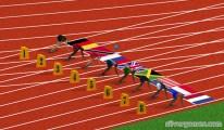 100 meter sprint track